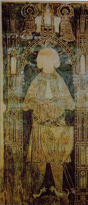 Dalle funéraire d'un comte de Salm (nom inconnu, du début du XIVe s.). Église de Saint Gengoux, Vielsalm, Belgique. Photo : Philippe Lamy