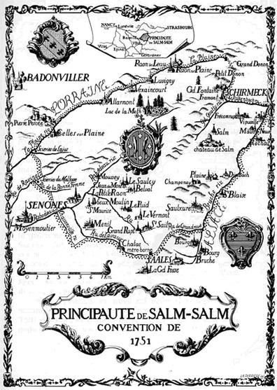 Carte de la principauté