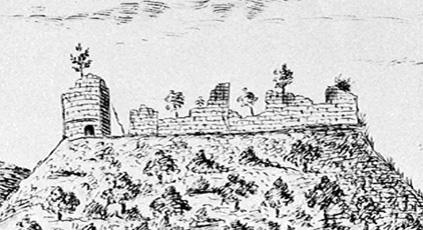 Ruines du château de Salm vers 1755